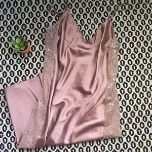 Victoria's Secret Pink Slip Dress W/ Mesh Sz L